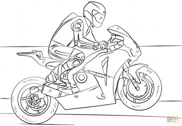 Гонщик на мотоцикле