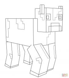 Корова из Майнкрафт