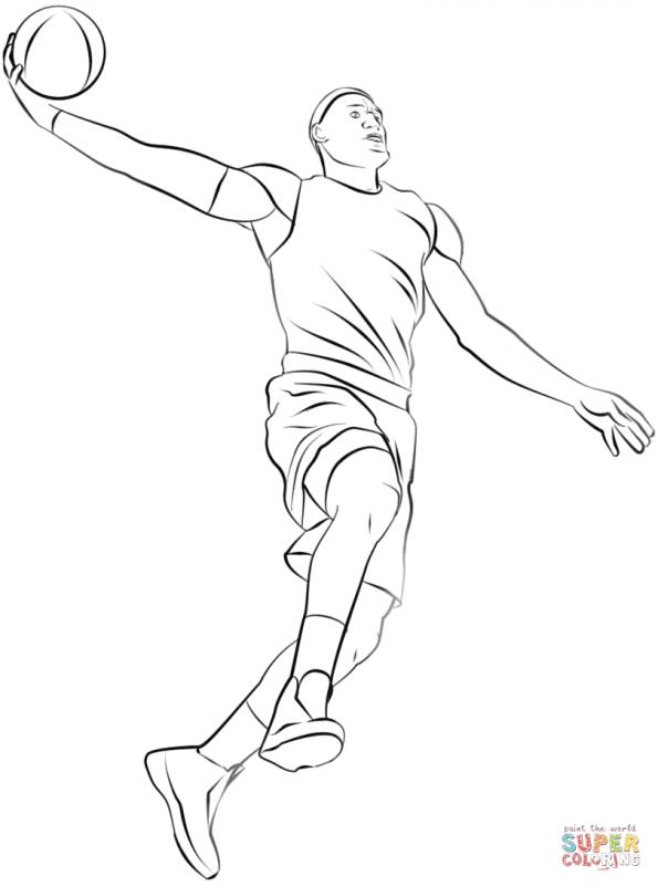 раскраска баскетболист распечатать или скачать из категории
