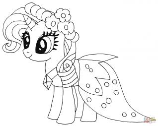 раскраски май литтл пони мой маленький пони распечатать