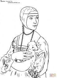 """""""Дама с горностаем"""". Леонардо да Винчи"""