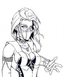 Ниндзя девушка из Mortal Kombat