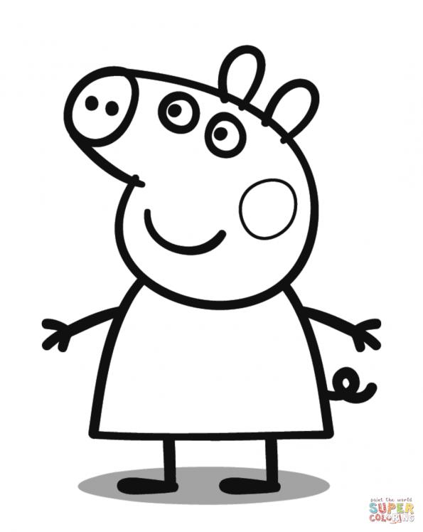 картинки раскраски свинка пеппа распечатать
